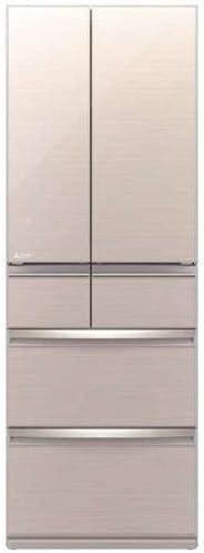 三菱 517L 6ドアノンフロン冷蔵庫 置けるスマート大容量 MR-WX52E-F