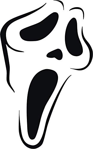 Family Connections Scream Ghostface ~ Black ~ Outdoor Halloween/Window/Wall/Craft Decal with Alcohol PAD~ Size 4.97
