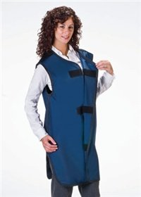 DSS Wolf Special Procedure Lightweight Lead-Free Apron With Front Closure (Large, Rose) by AliMed