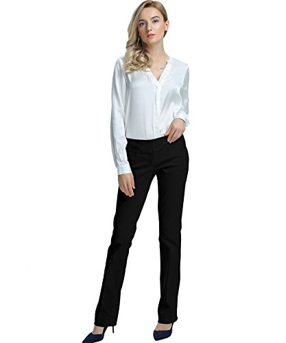 SATINATO-Womens-Stretch-Work-Pants-Office-Casual-Business-Wear