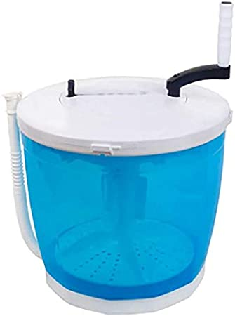 JND Lavadora Mini máquina de Lavado, Portátil Eco Lavadora Lavadora, Lavado de Mano, Grande 2 litros de Capacidad, Limpio, Enjuague y Centrifugado, tamaño: Azul Secadora (Size : Blue)