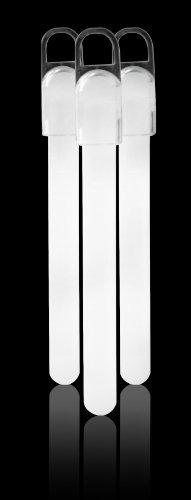 Fun Central E3 25 6' Standard Glow Sticks White - 25ct GLO-3600W