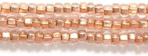 Preciosa Ornela Czech Copper Lined Seed Bead, Crystal, Size 10/0