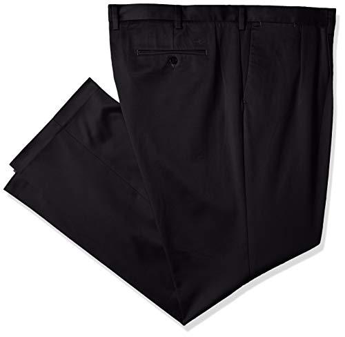 Dockers Men's Big and Tall Big & Tall Superior Trouser D3-Pleated, Black 44W x 29L - Mens Pleated Trousers