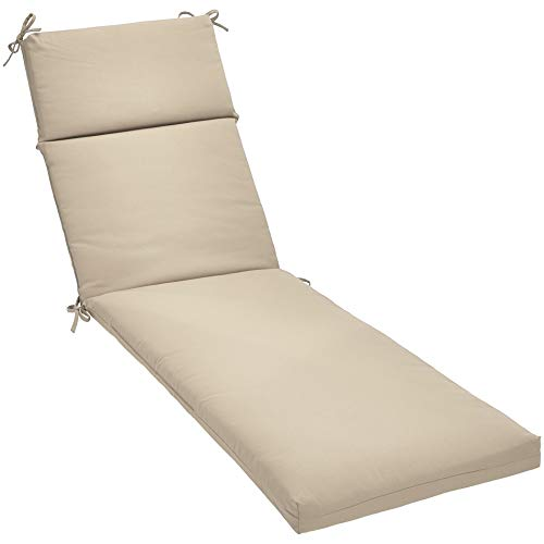 - AmazonBasics Lounger Patio Cushion- Poly Batting - Tan