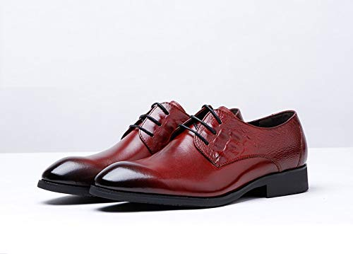 Red pelle end oxford modello EU Color Scarpe Brown Ruanyi Scarpe 40 high scarpe casual con stringate uomo in decorazione Size tRwFHv4q