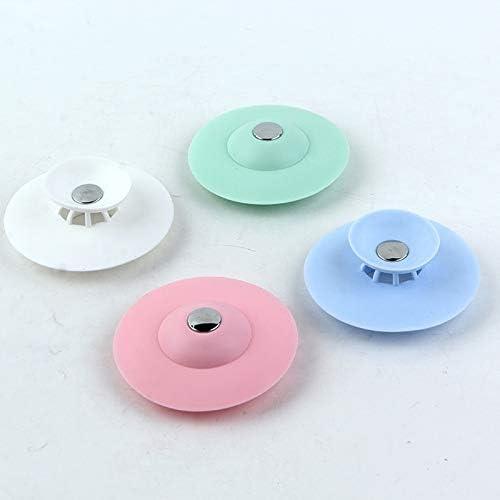 Hair Catchers Silicone Sink Drain Strainer Bathtub Floor Filter Deodorant PlES
