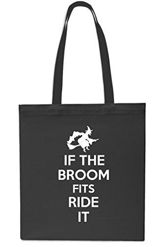 10 litres Broom Tote Grey Beach If 42cm Gym x38cm Ride It The Shopping Bag Halloween Fits Black OqqUH6w