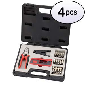 GOWOS (4 Pack) 18 Pieces Compression Connector Tool kit