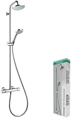 Hansgrohe 27135000 Croma 160 Showerpipe, 4 tipos de chorro con ...
