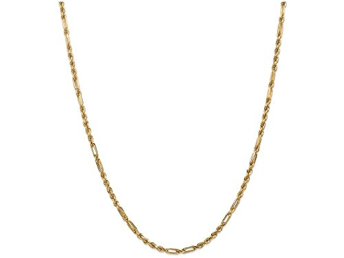 Milano Rope Chain (Finejewelers 18 Inch 14k Yellow Gold 3.0mm Milano Rope Chain Necklace)