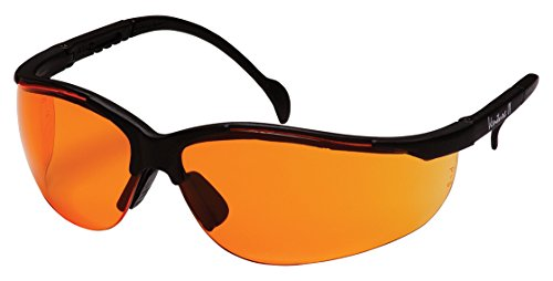 - Pyramex Venture Ii Safety Eyewear, Orange Lens With Black Frame