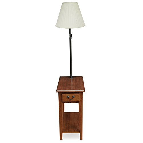 Amazon com leick furniture chairside lamp table medium oak kitchen dining