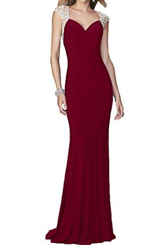 Festkleid Liebling Etui Rueckenfrei Abendkleid Linie Traeger Promkleid Damen Partykleid Ivydressing Weinrot HZBxw5E8qW