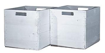 Vinterior 2 Stück Holzkisten Weiß Für Kallax Regale 33x38x33cm Ikea