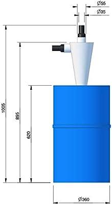 BZT - Separador ciclónico para aspiradora, 60 L: Amazon.es: Industria, empresas y ciencia