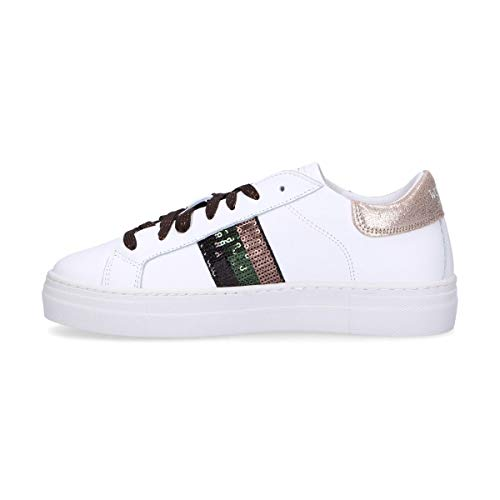 Donna Bianco Sneakers Womsh S280605 Pelle USccq5Op