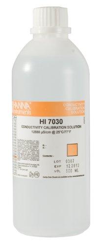 Hanna Instruments HI7030L 12880 µS/cm Conductivity Calibration Solution, 500mL Bottle