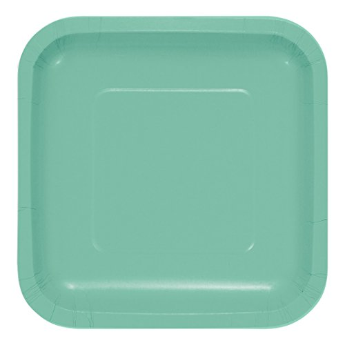 Creative Converting 318879 Fresh Mint Square Paper Lunch Plate, 7