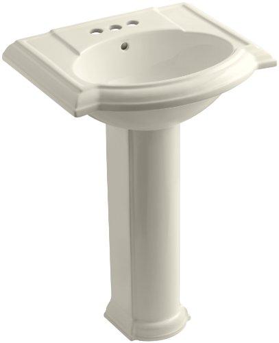 KOHLER K-2286-4-47 Devonshire Pedestal Bathroom Sink with 4