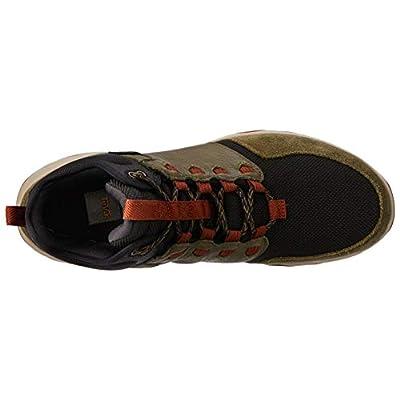 Teva Mens Hiking Boot, Dark Olive, 9 D (M) | Hiking Boots