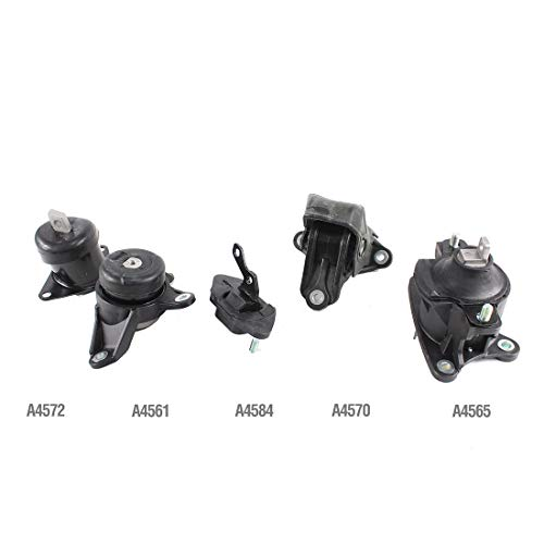 2011 Honda Accord Engine Motor - DNJ MMK1025 Complete Engine Motor & Transmission Mount Kit for 2003-2013 / Acura, Honda/TSX, Accord / 2.4L