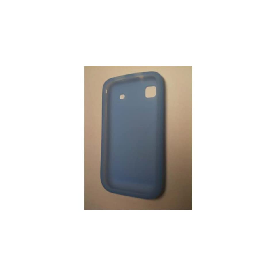 Light Blue Silicone Skin Case for Samsung i9000 Galaxy S / Samsung Vibrant (T Mobile)