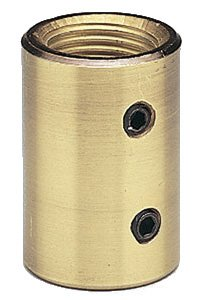 Brushed Nickel Downrod Coupler (Craftmade COUPLER-BN Ceiling Fan Down Rod Coupler, Brushed Satin Nickel)