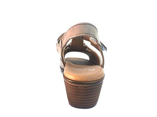 con 12 Elastico 340656 ARA Scarpa Latte cm Sandalo Donna 5 Tacco P0Zx0Yw