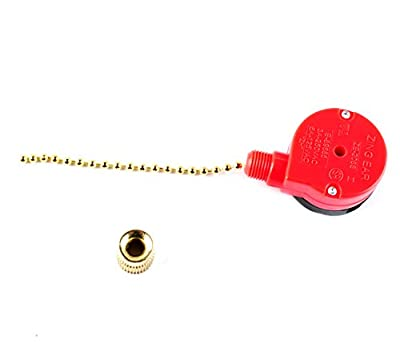 PODOY ZE-208S Pull Chain Speed Control Switch for Zing Ear 3 Speed 4 Wire Ceiling Fan