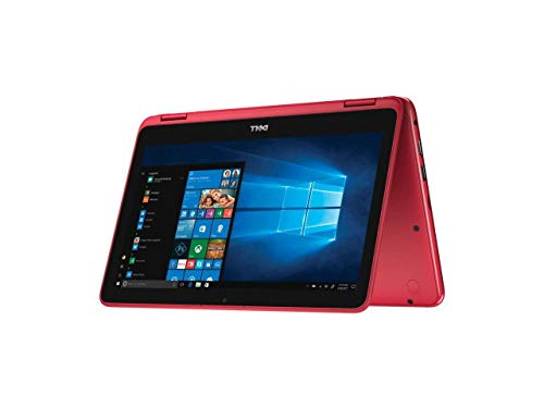 """2019 Dell Inspiron Lightweight 11.6"""" Touchscreen 2 in 1 Laptop Computer, AMD A6-9220e up to 2.4GHz, 4GB DDR4 RAM, 64B eMMC, Radeon R4 Graphics, Wifi, Webcam, Bluetooth, HDMI, USB 3.1, Windows 10 (Red)"""