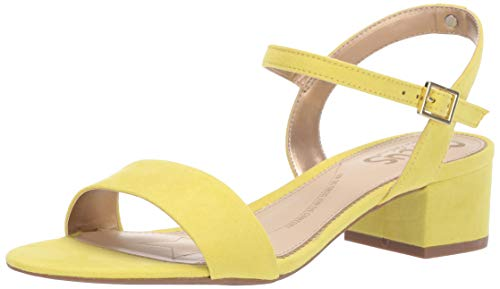 (Circus by Sam Edelman Women's Ibis Heeled Sandal, Sharp Yellow Microsuede, 8.5 M US)