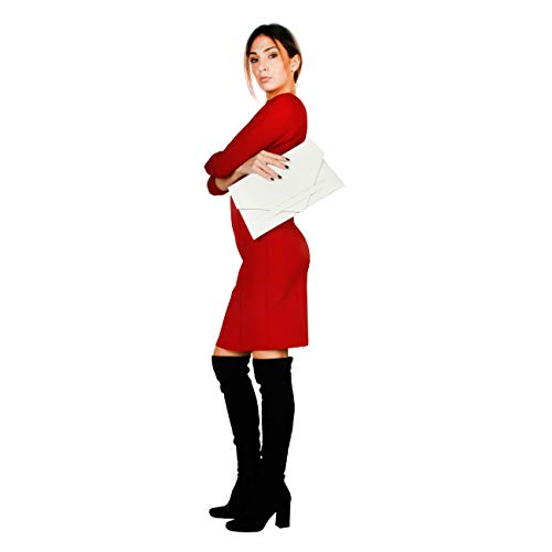 In Clutch White Made Bag Women Designer Italia Genuine wtZx4MqC