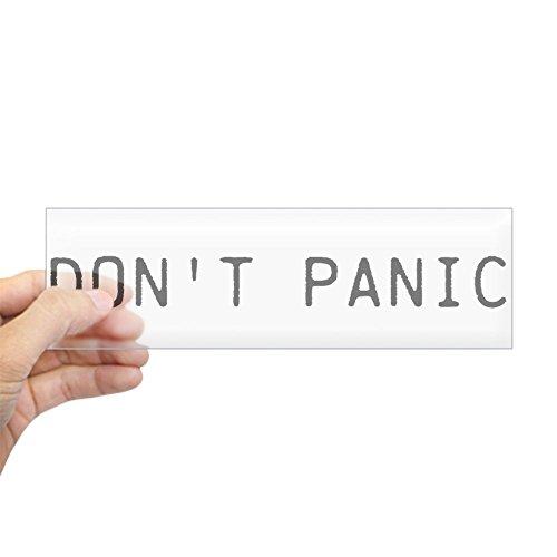 CafePress Don't Panic Bumper Sticker 10