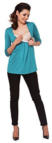 Zeta Ville - mujer - maternidad enfermería camiseta - superior camisa S-3XL - 372c Cyan