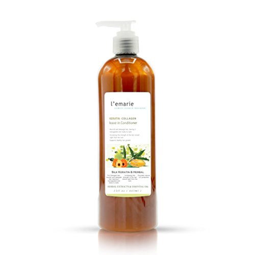 L'emarie Leave In Conditioner Argan Oil, Keratin Amino Acid, Wheat Germ, Coconut Oil - Strengthen & Replenish Damaged, Dry, Color Treated Hair - Daily Nourishment - For All Hair Types 15 fl.oz ()