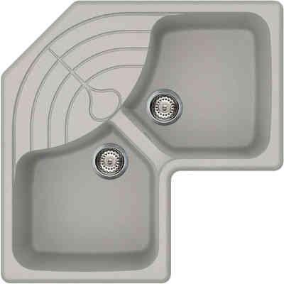 Lavello Cucina Angolare 2 Vasche 83cm Alluminio 71 LGMCOR71 Master ...