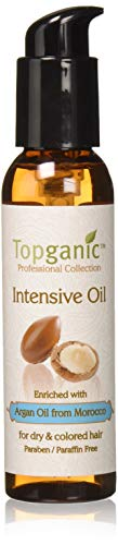 Topganic Argan Oil Intensive Serum for Silky Smooth & Healthy Hair – 5 Natural Active Ingredients Nourish, Protect & Strengthen Your Dry & Colored Hair, Use with Topganic Hair Mask for Maximum Results