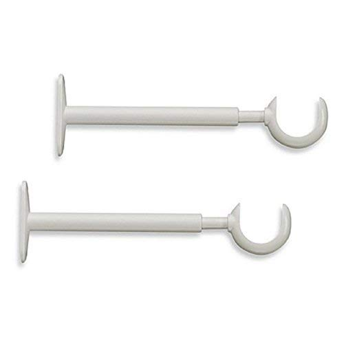 Cambria Premier Complete 6-Inch x 9-Inch Adjustable Bracket in Satin White (Set of 2) by Cambria