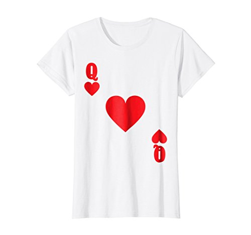 Womens Playing Card Queen of Hearts Group Halloween