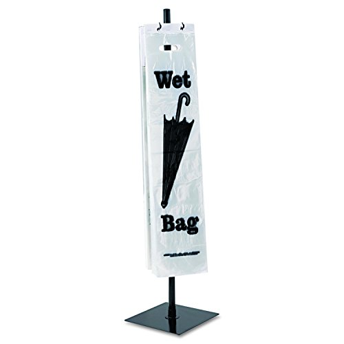 Powder Coated Metal Stand - Tatco Wet Umbrella Stand, 10 Width x 40 Height, Powder Coated Steel, Black (57019)