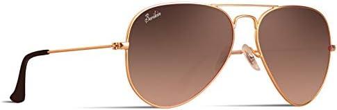 [スポンサー プロダクト]Berikin サングラス 高品質ガラス アビエーター ティアドロップ メンズ レディース UV400 UVカット sunglass for men women ミラー カラー レンズ