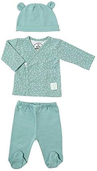 PETITE MARMOTTE BABY ACCESSORIES Pack Recién Nacido Talla 0-3 Meses. Conjunto Primera Puesta Gorrito + Camiseta Cruzada + Polaina (Topos, 0-3 Meses): Amazon.es: Ropa y accesorios