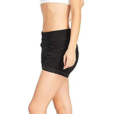 Wax Women's Juniors Stetchy Mid Rise Denim Shorts at Women's Clothing store