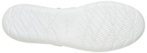 CLARKS Damen Jocolin Vista Bootsschuh Off White perforiertes Textil