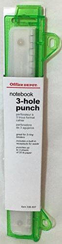 - Office Depot Notebook 3-Hole Punch (Green)