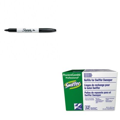 kitpag33407bxsan30001-value-kit-swiffer-dry-refill-system-pag33407bx-and-sharpie-permanent-marker-sa
