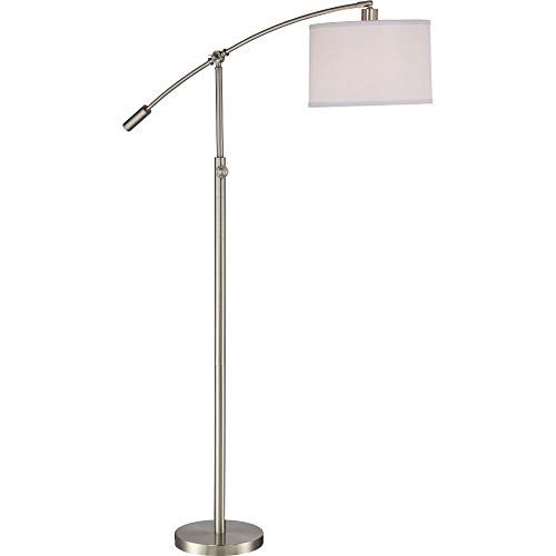 (Quoizel CFT9364BN Clift Swing Arm Floor Lamp, 1-Light, 100 Watts, Brushed Nickel (65