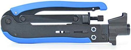 【berryause】 RG59 RG6 RG11ケーブルF用同軸ケーブルクリンパ圧縮工具ワイヤークリンパプライヤー圧着工具同軸コネクタケーブル(青&黒)