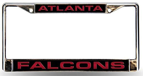 - Billion_Store Atlanta Falcons License Plate Frame Laser Chrome Best Accessories for Tuning